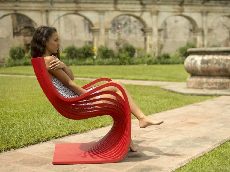 red outdoor furniture