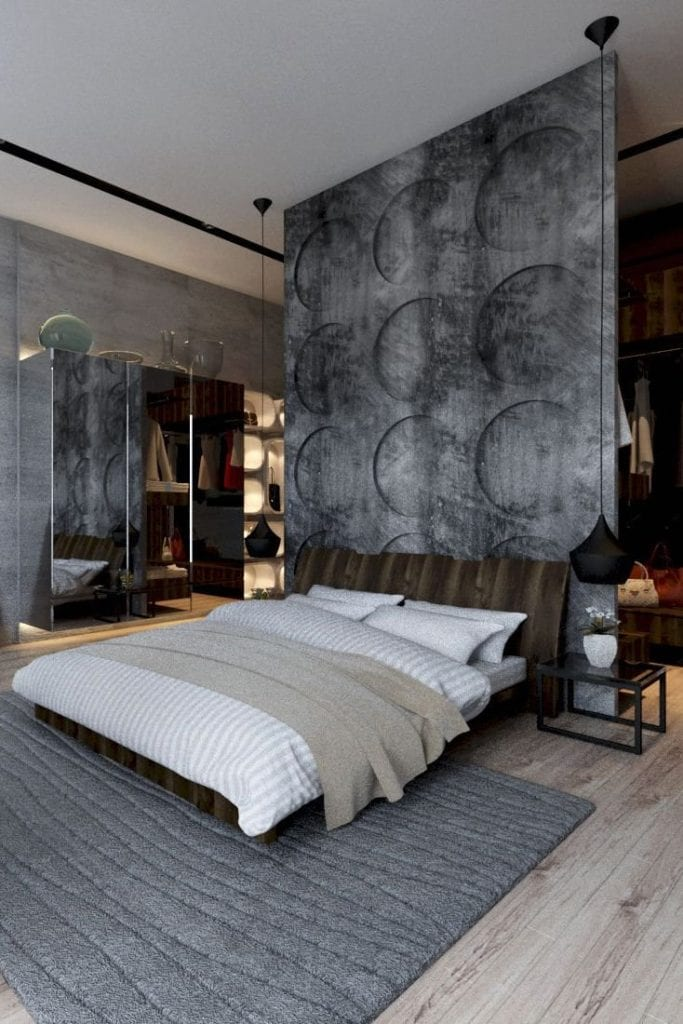 Room partition or room divider which looks like a concrete wall.