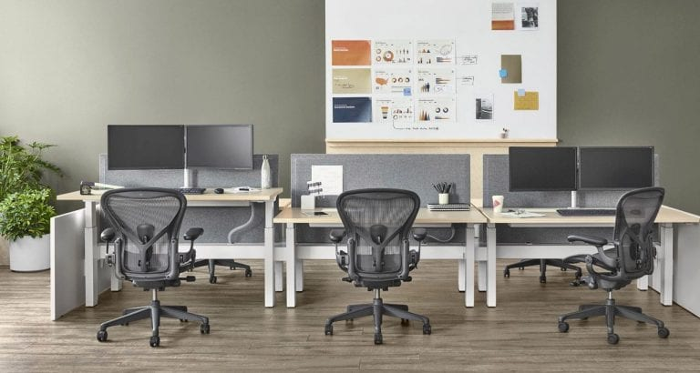 Herman Miller Aeron Chairs and desks