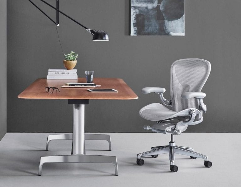 Herman Miller Aeron Chair and Desk