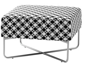 Checkered Havana Stool Swedese Mobler