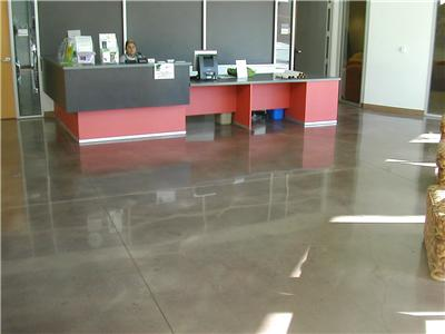 Concrete Flooring with Clear Coat