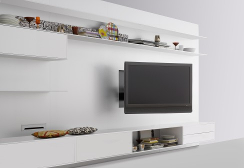Flexible TV Stand Wall Unit