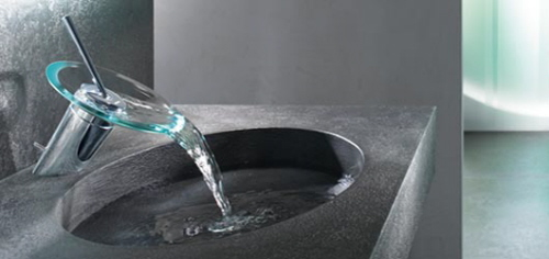 Hansamurano hands free glass faucet