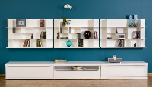 Panorama White Wall Shelving System
