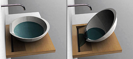 Portable bathroom vanity basin