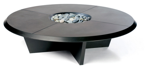 Plateau Zen Themed Black Coffee Table by MPS