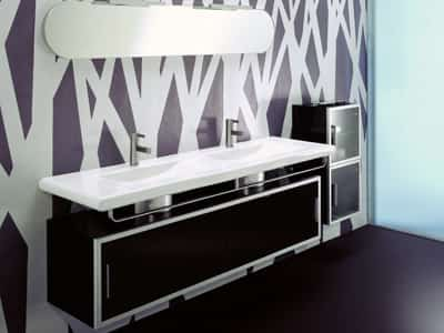 Black and White Bathroom Colors by Phoenix Design