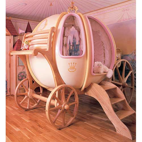 Cinderellas bed for Girls Room