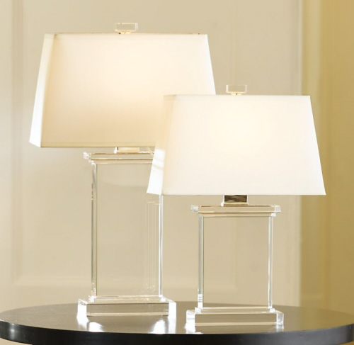 Pier Crystal Lamps from Restoration Hardware