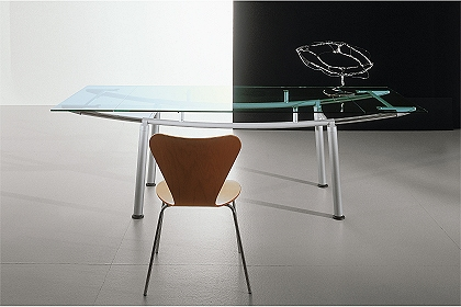 expandable modern glass dining tables gallotti & radice