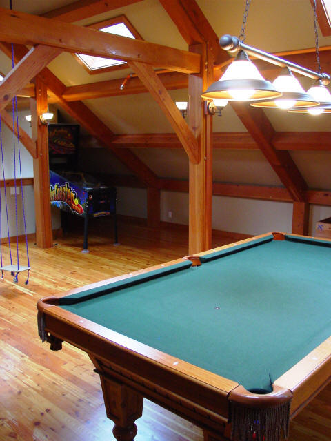 finished attic Game Room