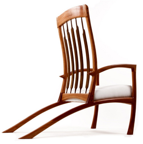 Wonderful Whyrhymer Wood Chairs Hand Made in California