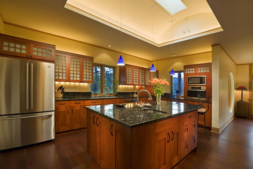 kitchen with sunroof