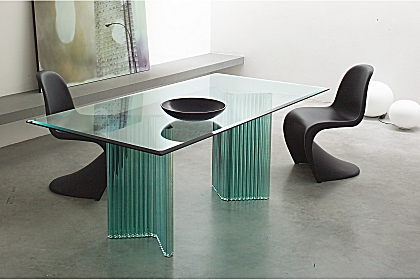 modern glass dining tables gallotti&radice furniture