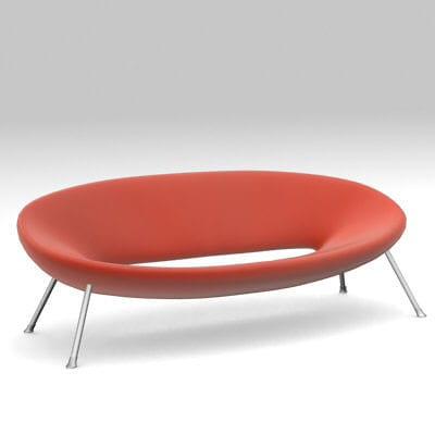 Ploof Sofa in Red from Kartell