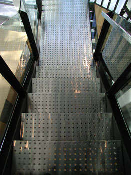 stair made of metal