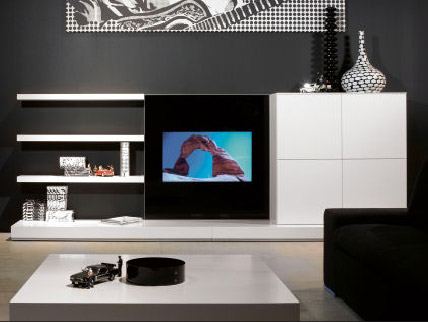 tv stand and media furniture in white