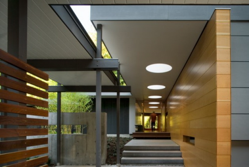 modern interior walk way