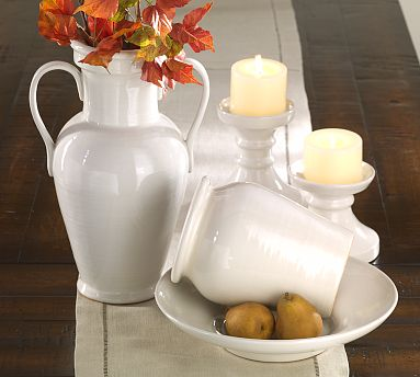 white pottery accessories