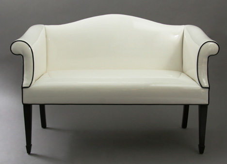 White Street Settee from Duane Modern Furniture