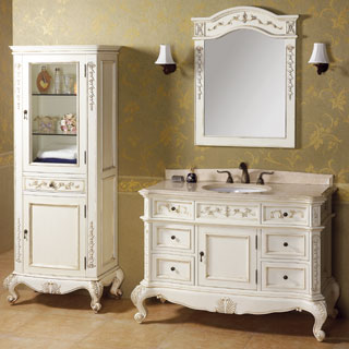 48 inch traditional bathroom counter and sink