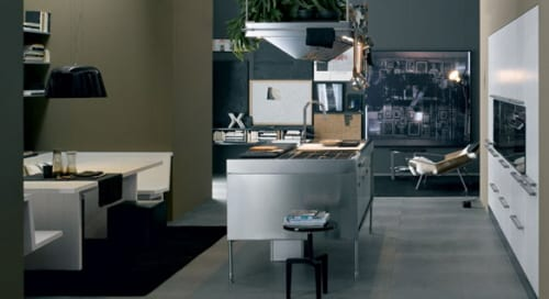 ARCLINEA CABINETS AND STAINLESS KITCHEN ISLANDS