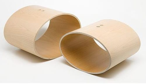 BONIFACIO POUF BENT WOOD STOOL DMK COLLECTIONS