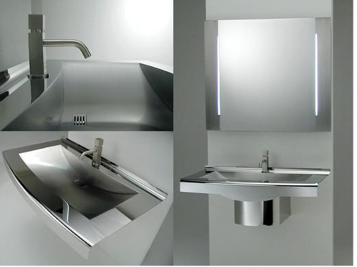JAPANESE ULTRA MODERN AND CONTEMPORARY STAINLESS STEEL BATHROOMS