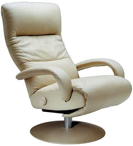 LAFER MODERN LEATHER RECLINER CHAIR