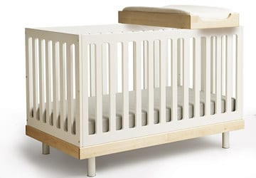 OEUF CRIB AND OPTIONAL BABY CHANGING TABLE
