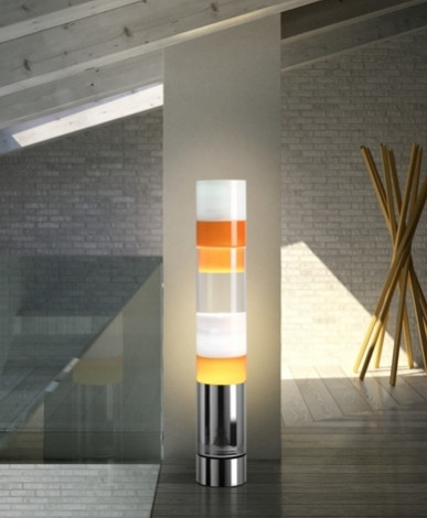 Stacking Cromo Ambientata2 modern glass floor lamps