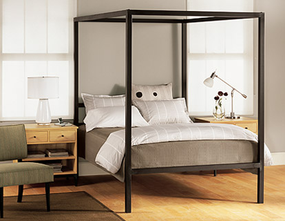 architecture modern canopy beds room and board