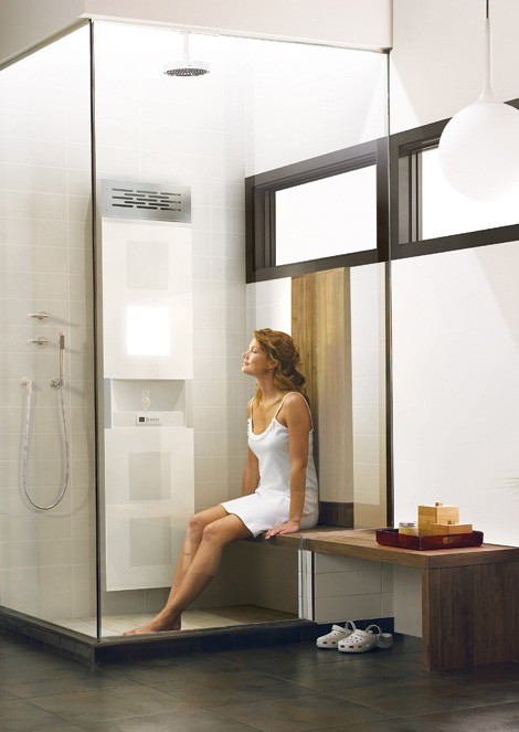 bainultra vedana wellness home spa glass shower