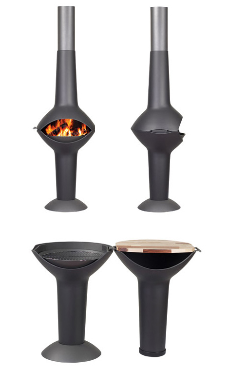 Lumos : Barbeque Grill and Outdoor Fireplace in One by Harrie Leenders