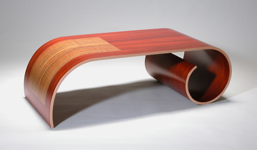 bent wood contemporary coffee table kino guero