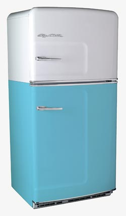 big chill 50's style refrigerators and freezers