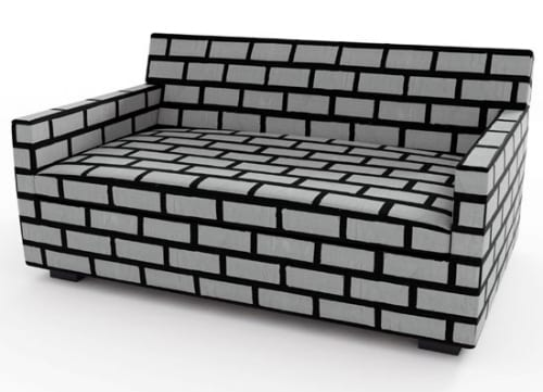 Brick and Mortar Sofa from Wrong and Woods