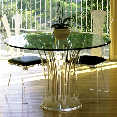 carousel acrylic dinette table modern furniture h.studio