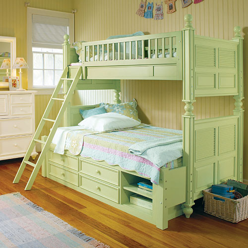 childrens furniture  bunk bed with storage drawers