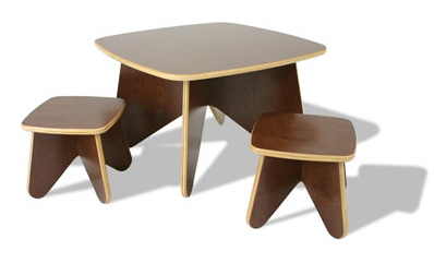 Children's Project Table and Stool Set by Ecotots