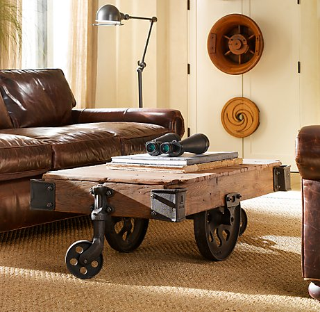 coffee tables furniture factoy cart restoration hardware