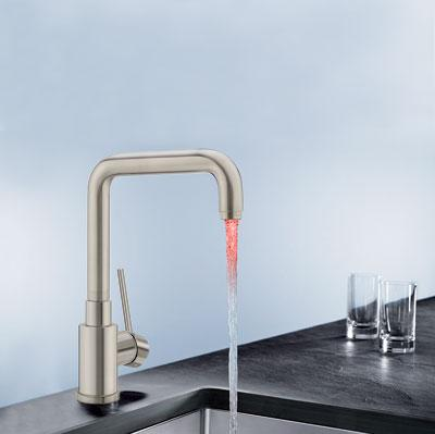 color sensitive LED kitchen faucet fro blanco america