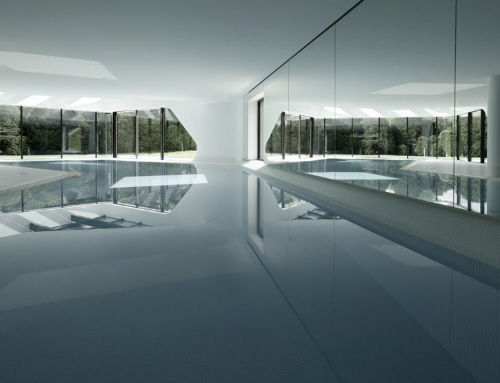 contemporary architecture and modern residential homes indoor pools
