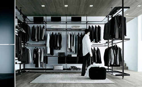 Rimadesio Contemporary Closet Organizers And Walk In Shelving