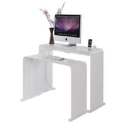 contemporay computer workstation small space furniture