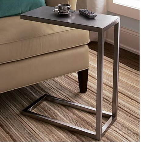 crate and barrel c shaped accent side table