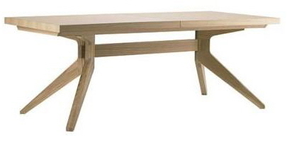 cross extension rectangular wood dining table