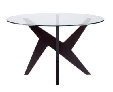 cross round glass contemporary dining table matthew hilton
