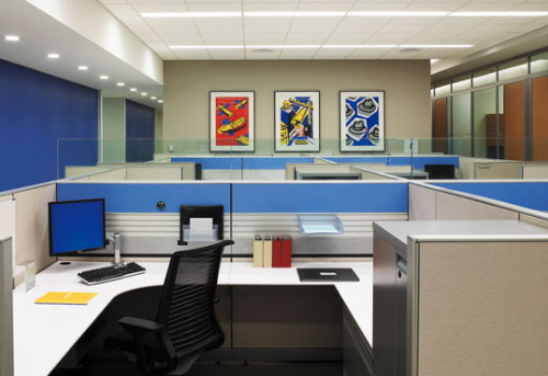 cubicle and office environments